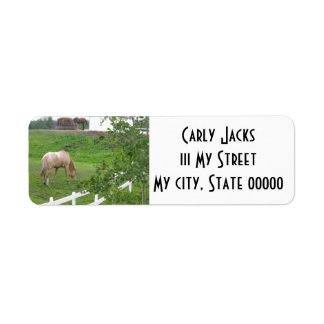 Grazing Horses I Label
