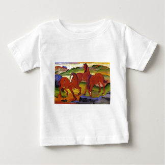 Grazing Horses IV (The Red Horses) by Franz Marc Baby T-Shirt