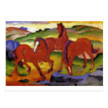 Grazing Horses IV (The Red Horses) by Franz Marc Postcard