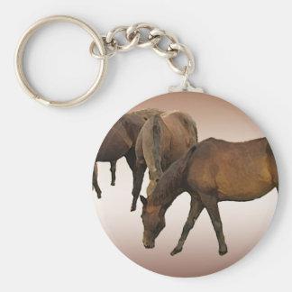 Grazing Horses Keychain