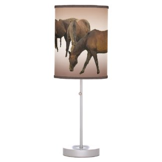 Grazing Horses Lamp