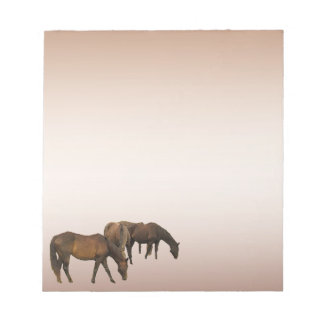 Grazing Horses Notepad