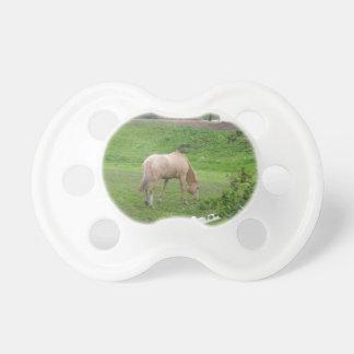 Grazing horses pacifier