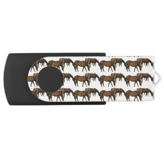 Grazing Horses Swivel USB 2.0 Flash Drive