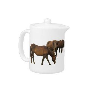 Grazing Horses Teapot