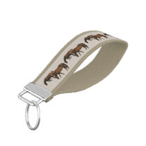 Grazing Horses Wrist Keychains