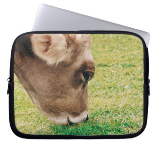 Grazing Jersey Cow Laptop Computer Sleeve