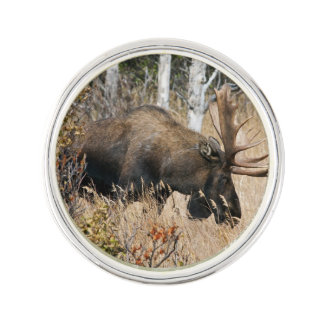 Grazing Moose Lapel Pin