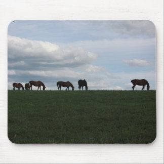 Grazing on the hill mousepad