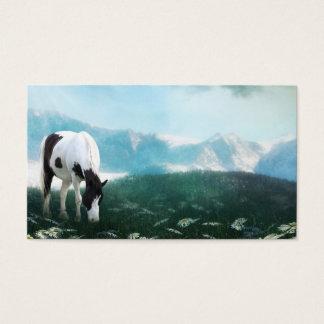 Grazing paint horse business card