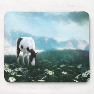 Grazing paint horse mouse pad