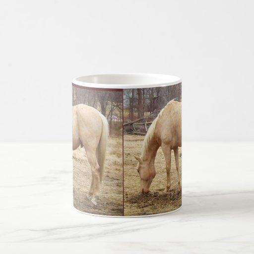 Grazing Palomino Horse Mugs