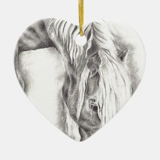 Grazing Pony Ceramic Ornament