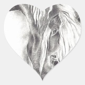 Grazing Pony Heart Sticker
