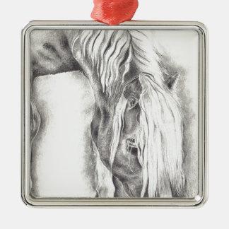 Grazing Pony Metal Ornament