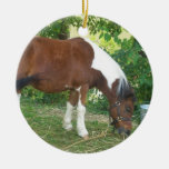 Grazing Pony Ornament