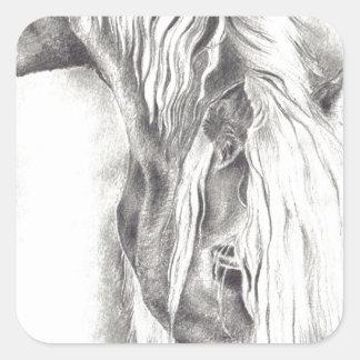 Grazing Pony Square Sticker