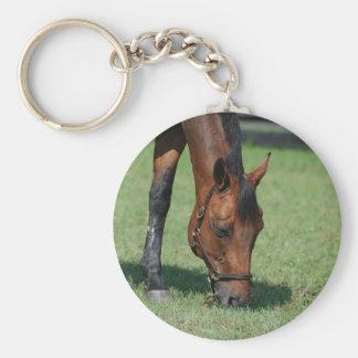 Grazing Quarter Horse Keychains