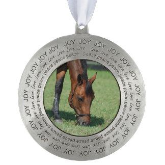 Grazing Quarter Horse Round Ornament