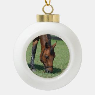 Grazing Quarter Horse Ornaments