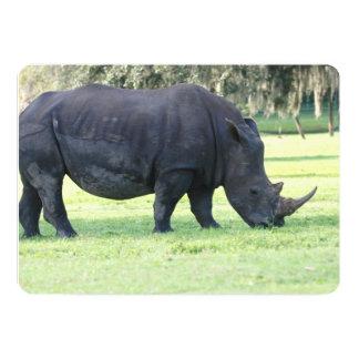 Grazing Rhino 5x7 Paper Invitation Card