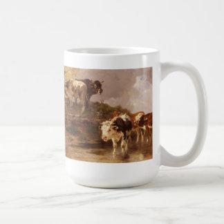 Grazing Vintage Cows Mug