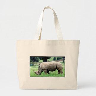 Grazing White Rhino  Canvas Bag