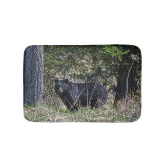 Grazing Wild Black Bear Wildlife Photo Bath Mat