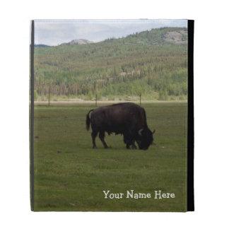 Grazing Wood Bison; Customizable iPad Folio Cases