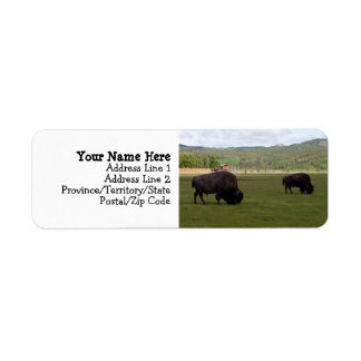 Grazing Wood Bison Label