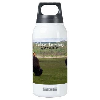 Grazing Wood Bison; Yukon Territory Souvenir Insulated Water Bottle