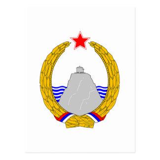 Grb Crne Gore, escudo de armas de Montenegro Postales