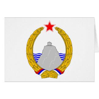 Grb Crne Gore, escudo de armas de Montenegro Tarjeta De Felicitación