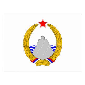 Grb Crne Gore, escudo de armas de Montenegro Tarjeta Postal