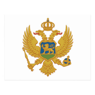 Grb Crne Gore, Montenegro coat of arms Post Card