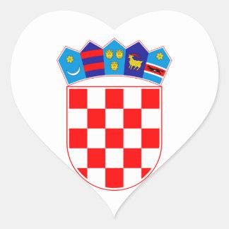 Grb Hrvatske, Croatian coat of arms Heart Sticker