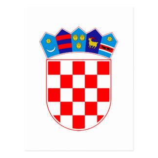 Grb Hrvatske, Croatian coat of arms Postcard