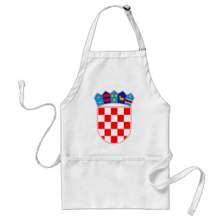 Grb Hrvatske, escudo de armas croata Delantal