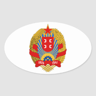 Grb Srbije, Serbia coat of arms Oval Sticker