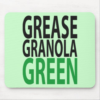 grease, granola, GREEN! Mouse Pad