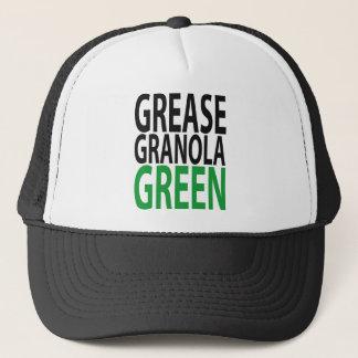 grease, granola, GREEN! Trucker Hat
