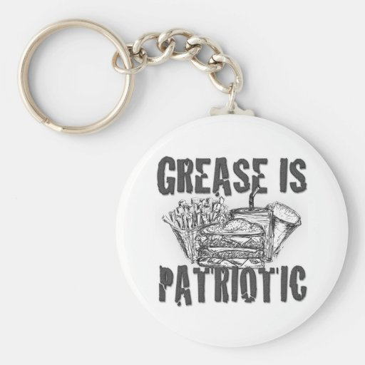 Grease Is Patriotic Keychain