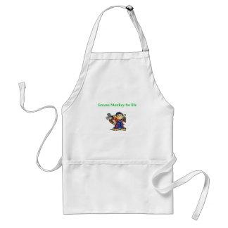 grease monkey adult apron