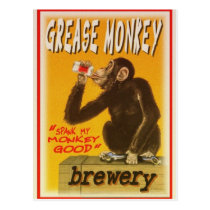 grease monkey brewery post cards