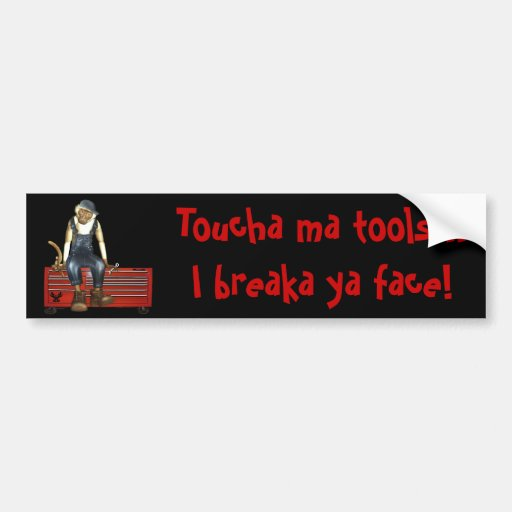 Grease Monkey Customized Toolbox Sticker (Red) Car Bumper Sticker