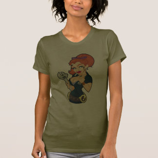 Grease Monkey Girl T-Shirt Dark