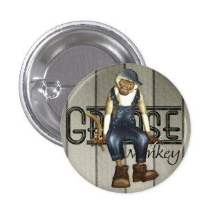 Grease Monkey Mechanics Pin-Back Badge Button