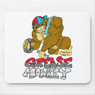 Grease Monkey Mouse Pad