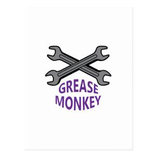 GREASE MONKEY POSTCARD