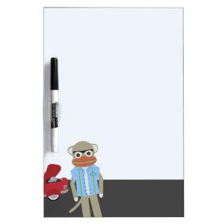 Grease Sock Monkey Dry-Erase Board